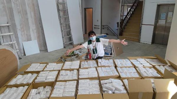 彰化愛心企業捐逾8萬片口罩 照顧1760戶家扶弱勢家庭