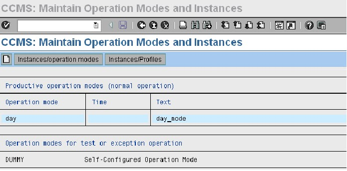 Sap Basis Tutorials How To Setup Operation Modes In Sap