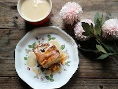 Puding Roti Mentega  Dengan Gula Hangus Yang Sedap