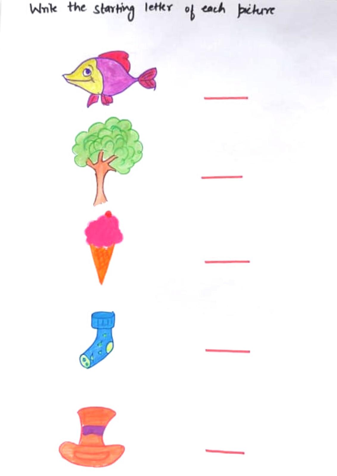 English Worksheets For Nursery Lkg Amp Ukg 3 5 Years Old
