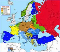 Mapa Scienna Historyczna Europa Po Ii Wojnie Swiatowej