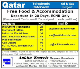 Qatar Oil & Gas Project Required