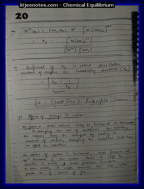 Chemical Equilibrium Notes IITJEE7