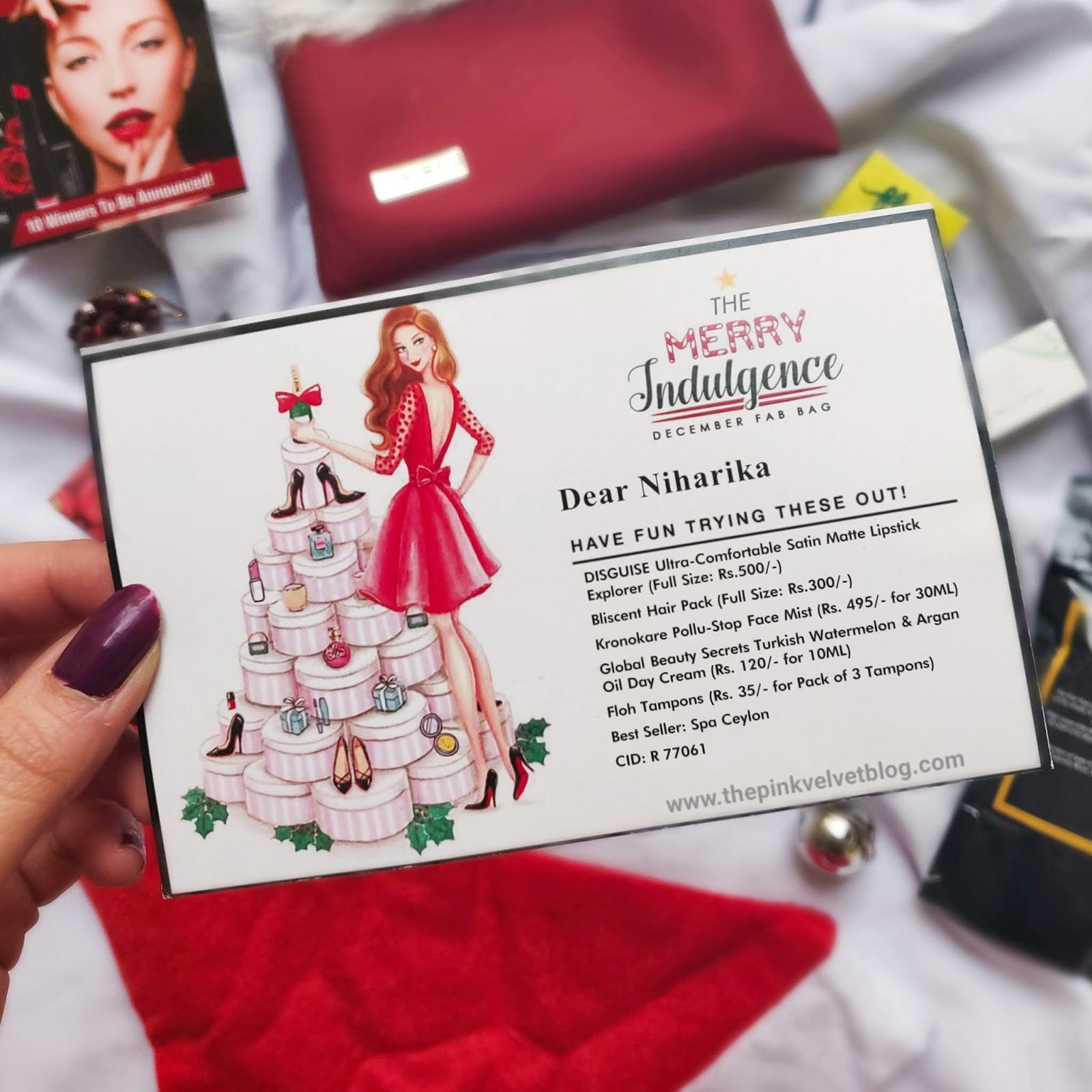 December 2018 FAB BAG Unboxing and Review - Info Card