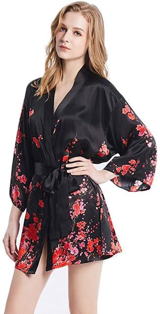 Silk Short Robes For Women