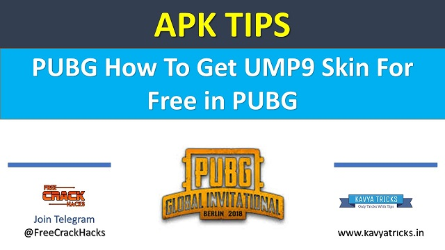 How To Get UMP9 Skin For Free in PUBG 1