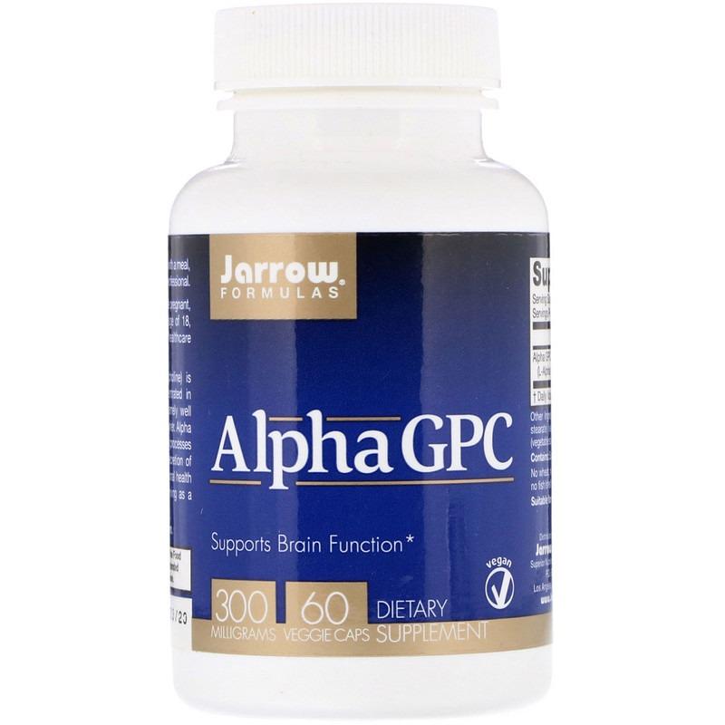 Jarrow Formulas, Альфа ГФХ, 300 мг, 60 растительных капсул