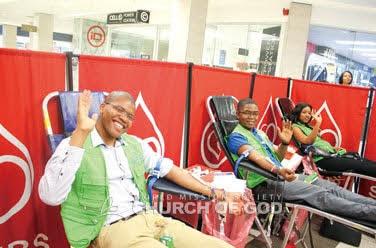 Campanha de doação de sangue em Joanesburgo, Rep. da África do Sul