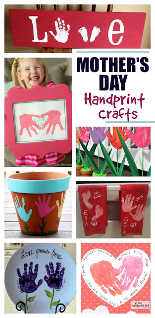 20+ Mother's Day handprint crafts that are utterly adorable!