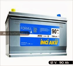inci akü formul a asya serisi 12 volt 90 amper