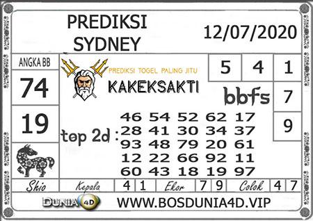 Prediksi Togel Kakek Sakti SDY Sydney Minggu 12 Juli 2020