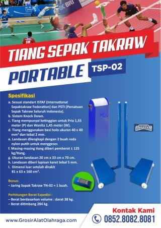 tiang sepak takraw portable tsp-02