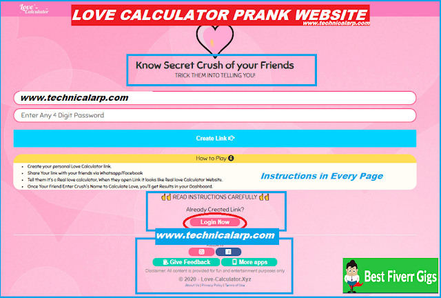 Love Calculator Prank Website Php Script Download
