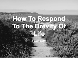 Audio Reading: How To Respond To The Brevity Of Life (Psalm