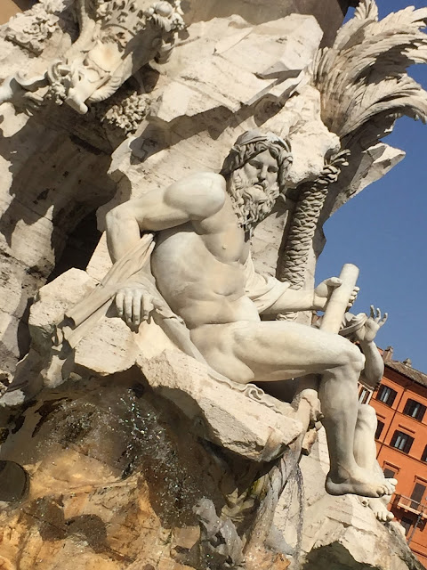 Piazzo Navona, Rome, Fountain, Old Fountain, Things To Do In Rome