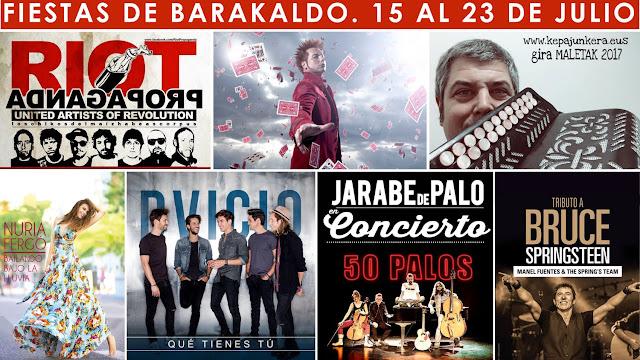 Programa de conciertos de las fiestas de Barakaldo