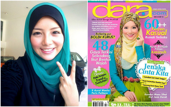 Blogger cantik jadi cover majalah