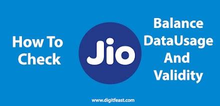 How To Check Jio Balance, Data Usage, and Validity - Jio Care