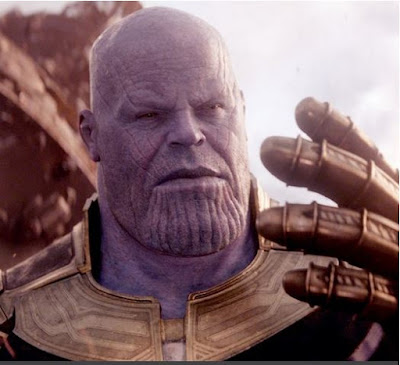 What kind of weapon does Thanos use to harness the power of the Infinity Stones?