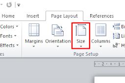 Cara mengubah ukuran kertas di word dengan Mudah