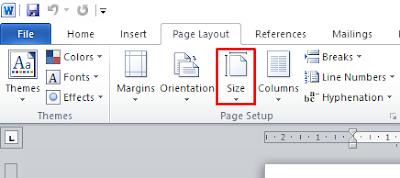 Cara mengubah ukuran kertas di word