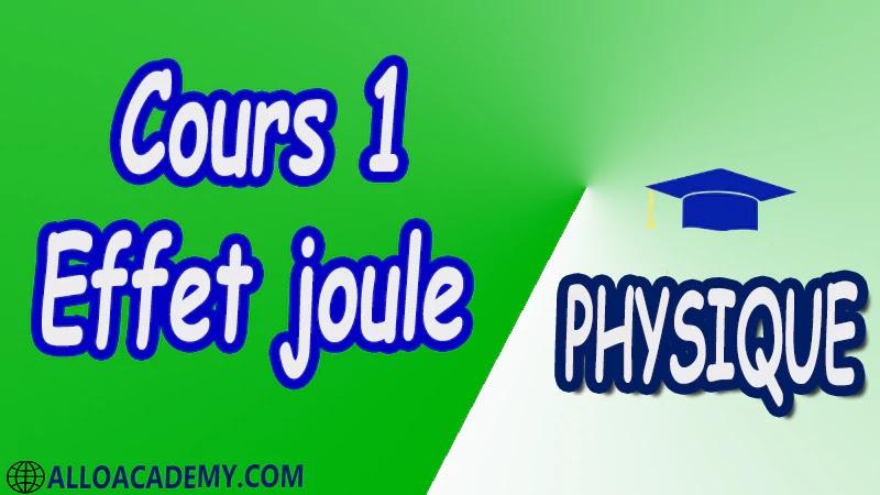 Cours 1 Effet joule pdf