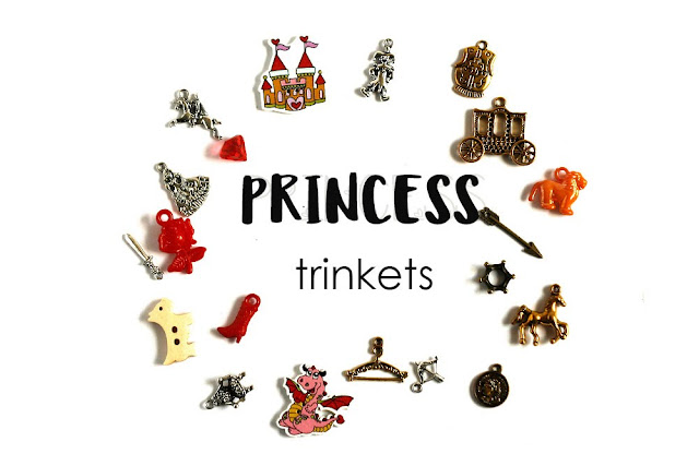 Princess Theme I Spy trinkets, I spy bag bottle fillers by TomToy