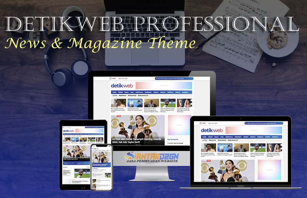 Detikweb Professional Blogger News & Magazine Theme