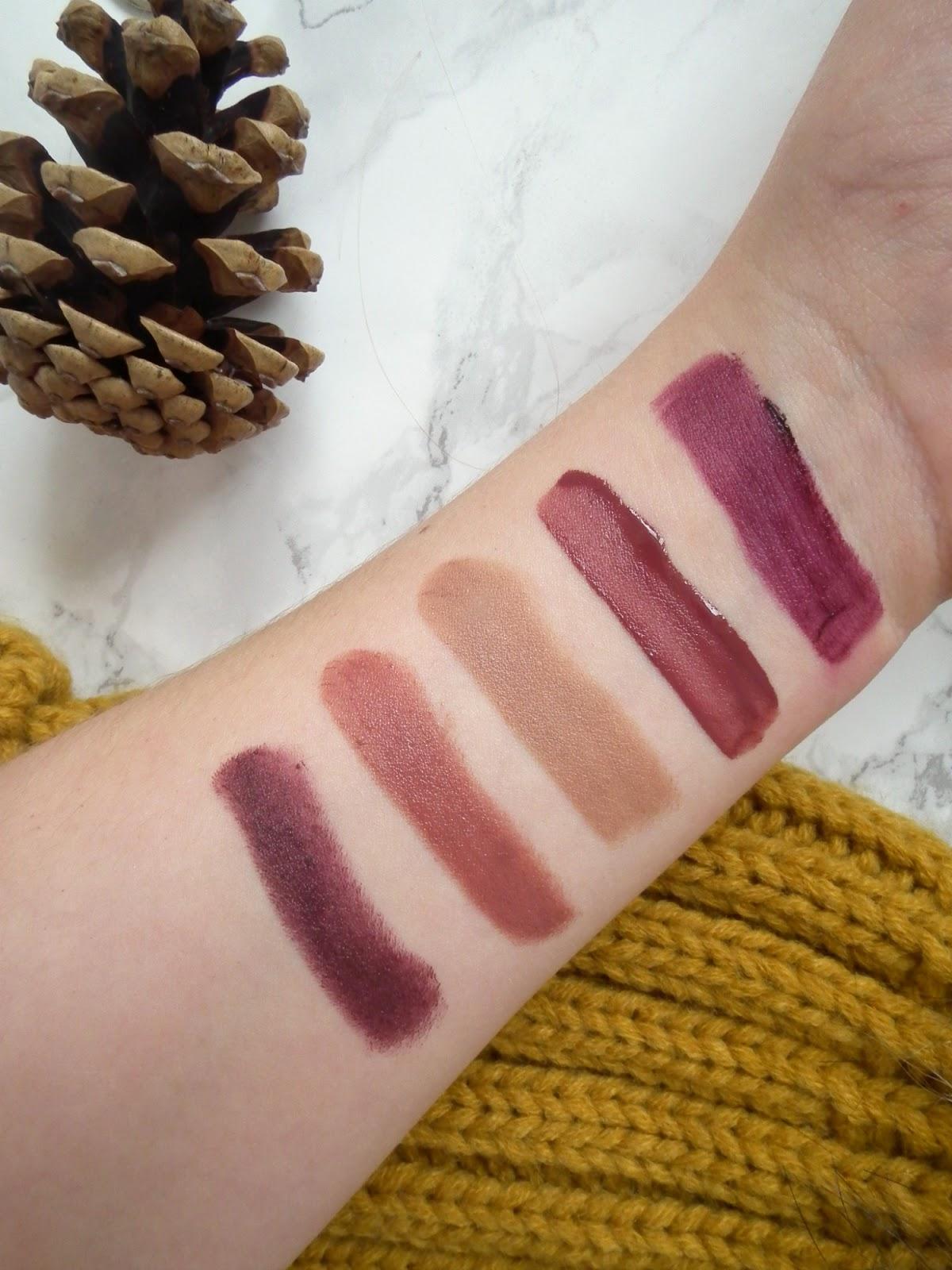 5 Autumn Lip Shades Under £10 Swatches