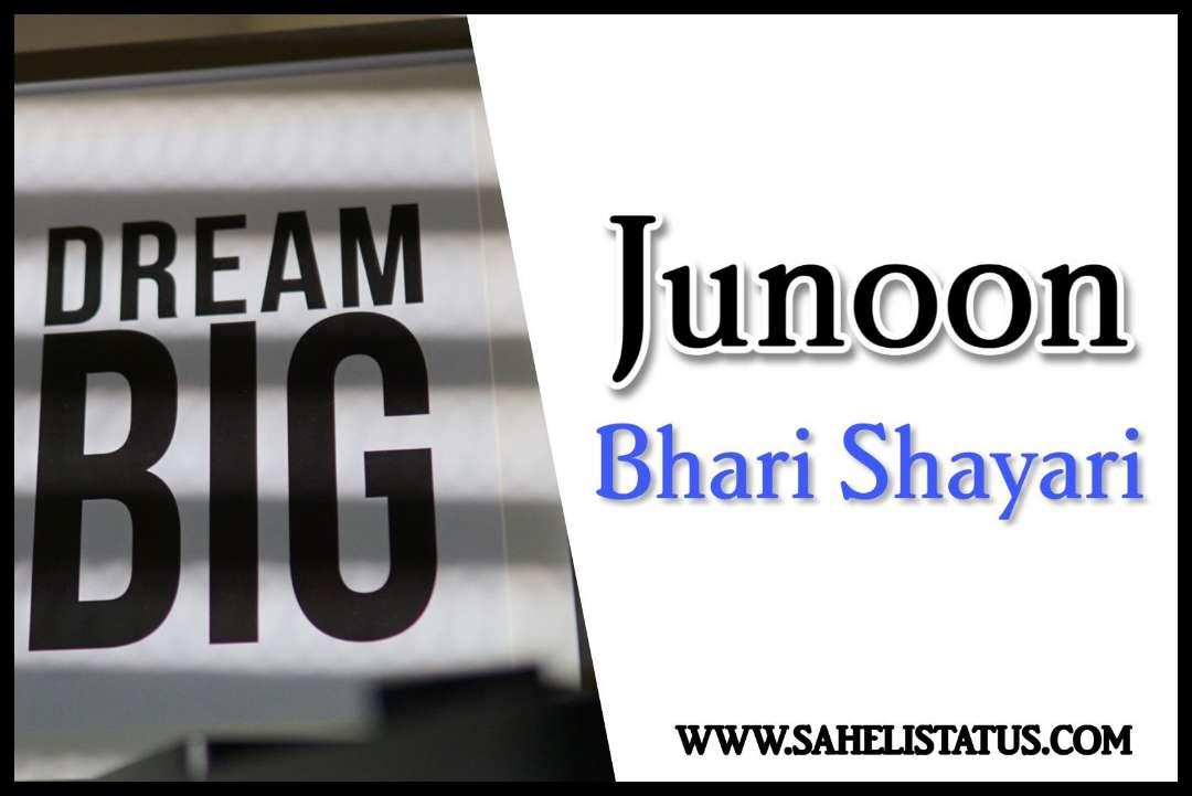 Junoon Bhari Shayari in Hindi