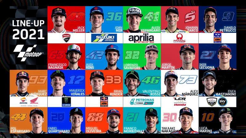 Daftar Nama Pebalap MotoGP 2021