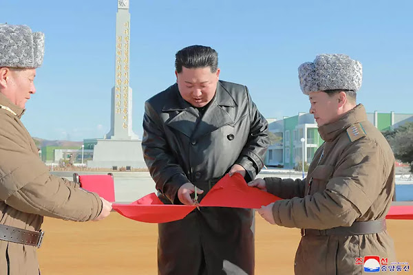 Kim Jong Un at Jungphyong area, December 2019