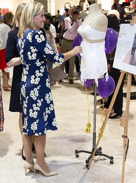 Countess Sophie of Wessex wore Suzannah Marigold Tea dress. The Countess wore a floral-print dress by Suzannah