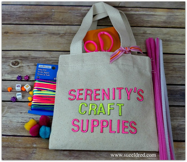joy embroidered letters personalized craft tote sue eldred