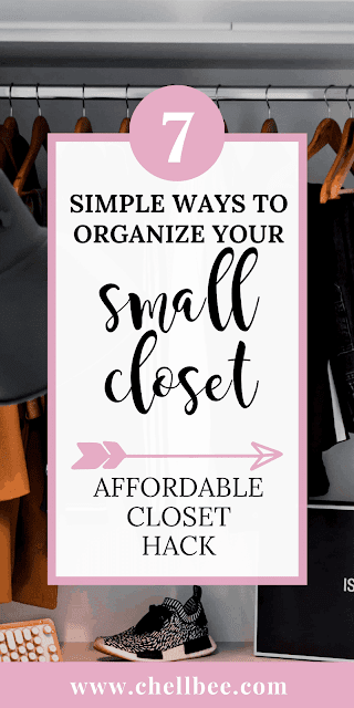 Organize Closet | Learn 7 simple ways to organize your small closet on a Budget. These tips will help you to keep your closet clutter free. organize a closet organization | closet organization ideas small | small closet organization bedroom | organization ideas for the home