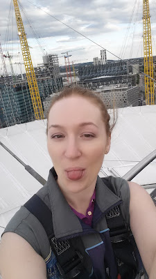 up the o2, Michelle Louise Love, greenwich, london, climbing o2