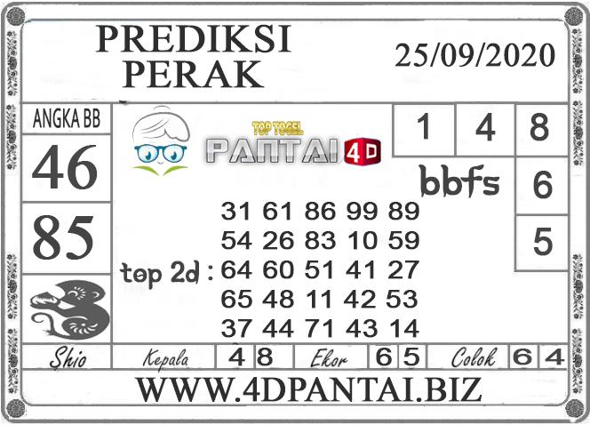 PREDIKSI TOGEL PERAK PANTAI4D 25 SEPTEMBER 2020
