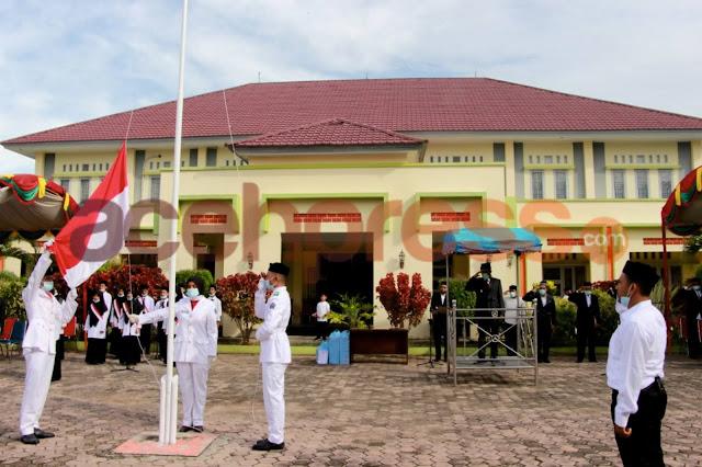 Wakil Bupati Pidie Jaya jadi Irup pada upacara HAB ke 75