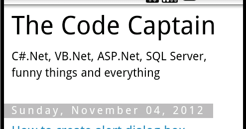The Code Captain: How to load web site in native Android application