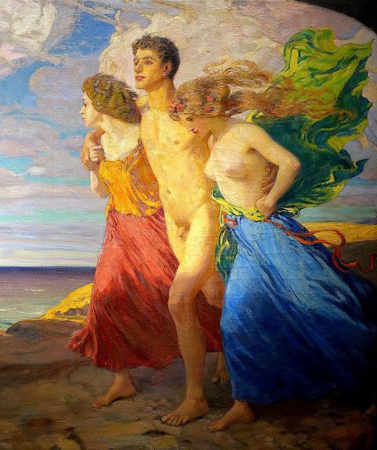 Ludwig von Hofmann: Tempesta di primavera (dettaglio)