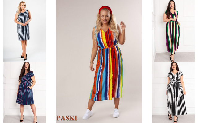 sukienki plus size ze wzorami w z kolekcji laprim w sklepie fenii.pl