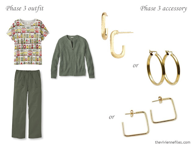 How to Add Accessories to a Capsule Wardrobe: Olive, White, Tomato and Mustard - jewellery