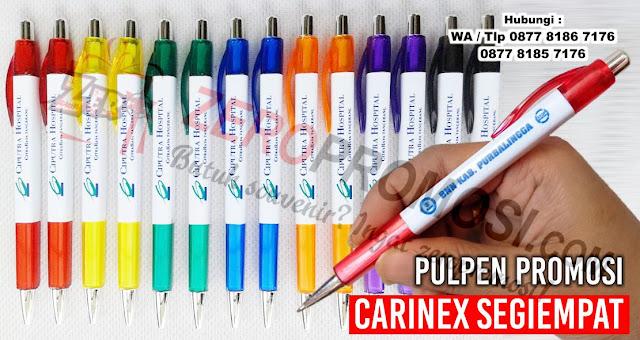 Jual Pulpen sablon carinex, Pulpen Kotak Karinex, BP Carinex, BP Karinex, Pen Segiempat Promosi - menerima pembuatan pulpen plastik promosi