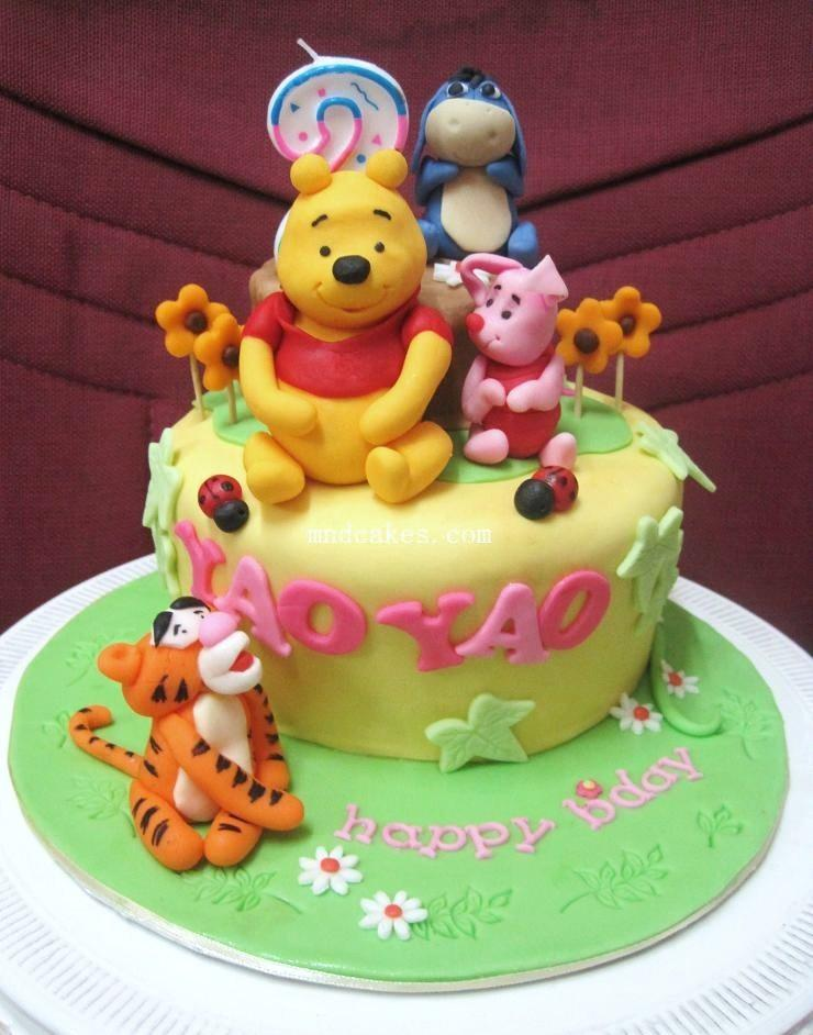Mom And Daughter Cakes Winnie The Pooh And Friends Cake For 2 Years Old