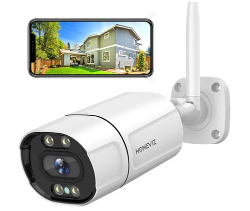 Homeviz Security Camera with WiFi Color Night Vision