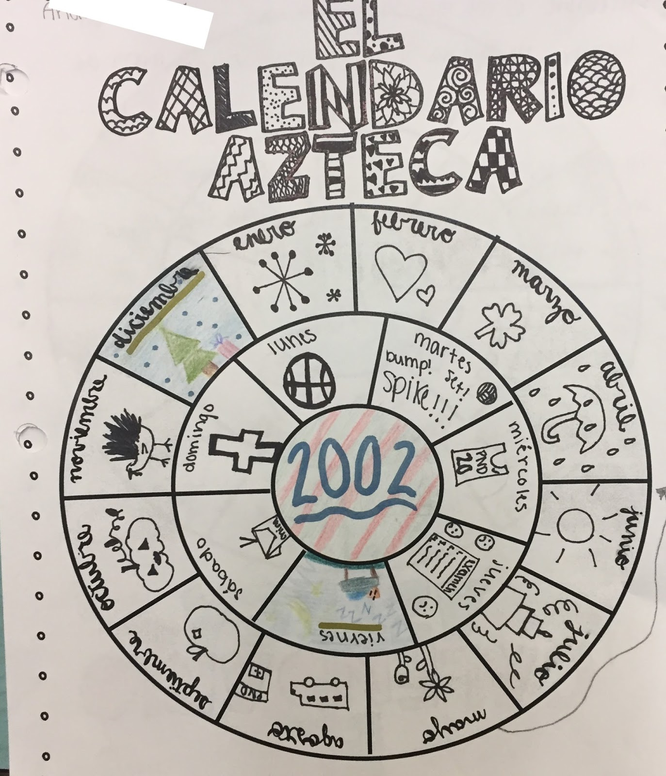 Spanish With Senora Botero Moriarty El Calendario Azteca