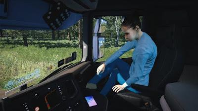Animated female passenger in truck V2.0