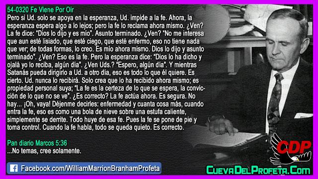 Cuando la Fe toma control - William Branham en Español