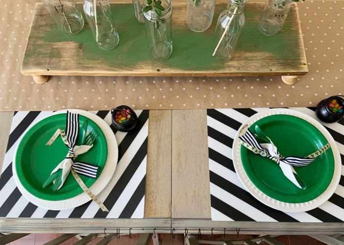 St Patrick's Day Table Decoration - table setting