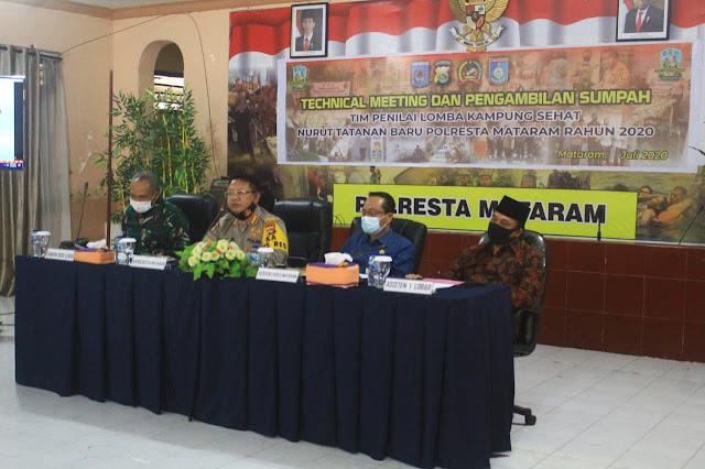 Polres Mataram siapkan petugas Tim Penilai Lomba Kampung Sehat